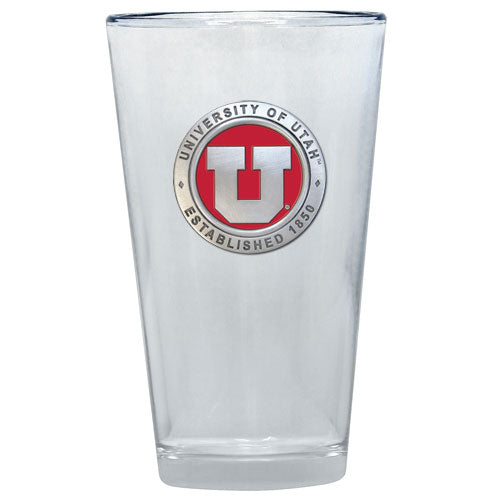 UNIVERSITY OF UTAH PINT GLASS