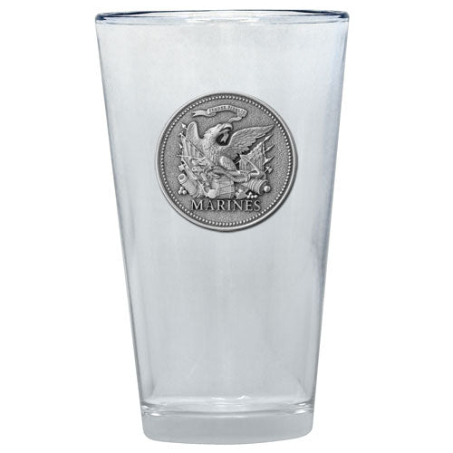 MARINES HISTORIC PINT GLASS