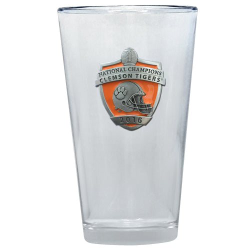 CLEMSON UNIVERSITY NATIONAL CHAMPIONS 2016 PINT GLASS