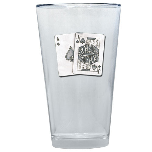 BLACK JACK PINT GLASS