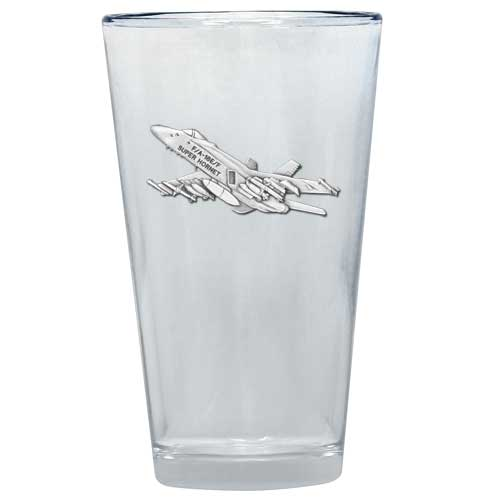 F-18 HORNET PINT GLASS