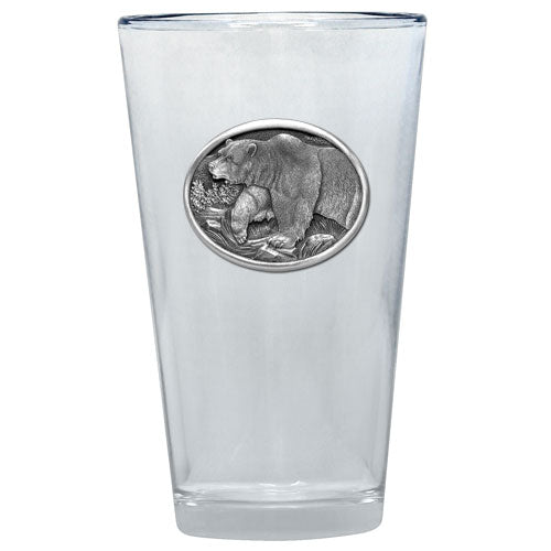 GRIZZLY BEAR PINT GLASS