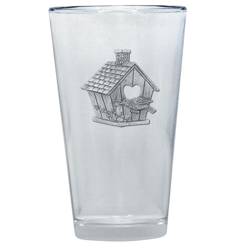 BIRDHOUSE PINT GLASS