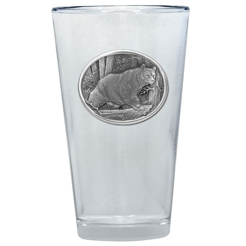 BLACK BEAR PINT GLASS