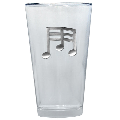 MUSIC NOTE PINT GLASS