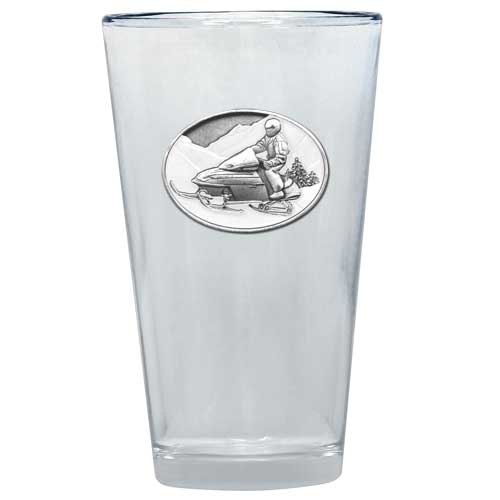 SNOWMOBILE PINT GLASS
