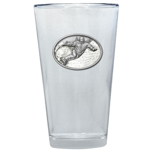 SNOWBOARDER PINT GLASS