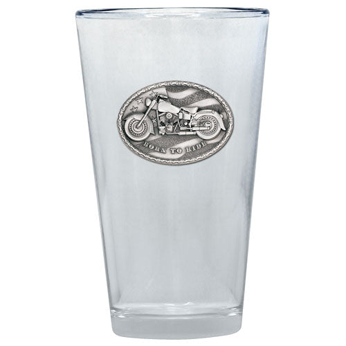 MOTORCYCLE PINT GLASS