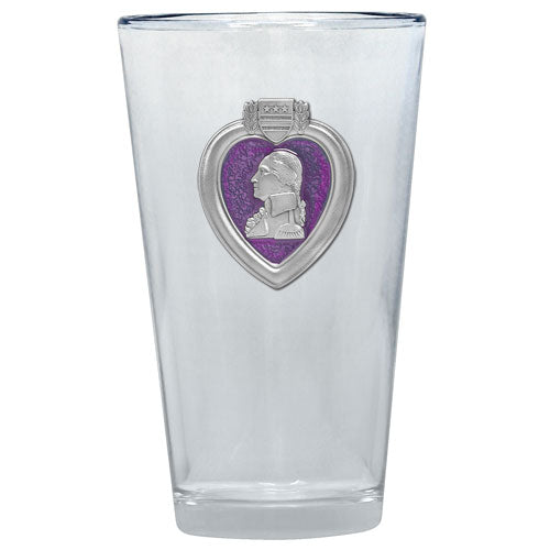 PURPLE HEART PINT GLASS