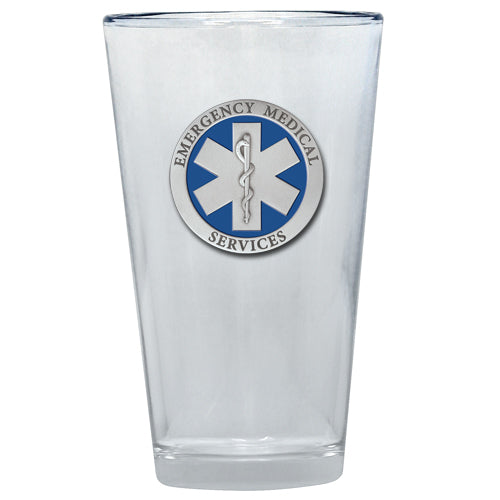 EMERGENCY MEDICAL PINT GLASS