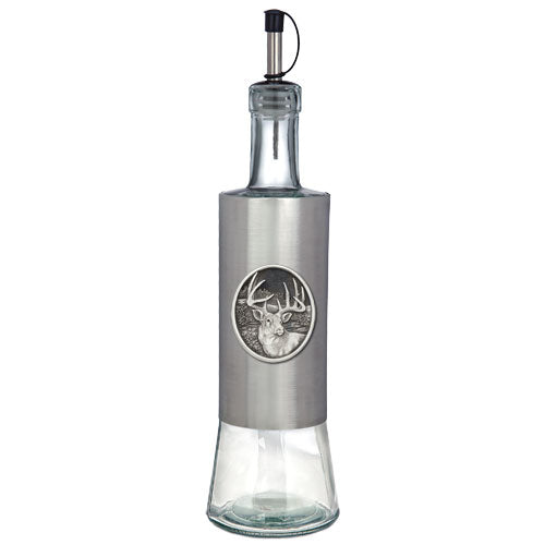 WHITETAIL DEER POUR SPOUT STAINLESS BOTTLE