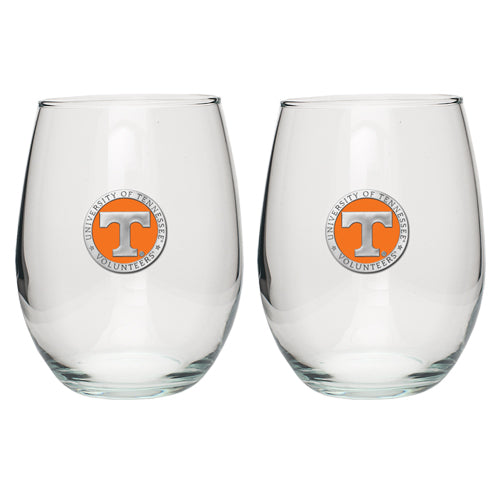 UNIVERSITY OF TENNESSEE STEMLESS GOBLETS (SET OF 2)