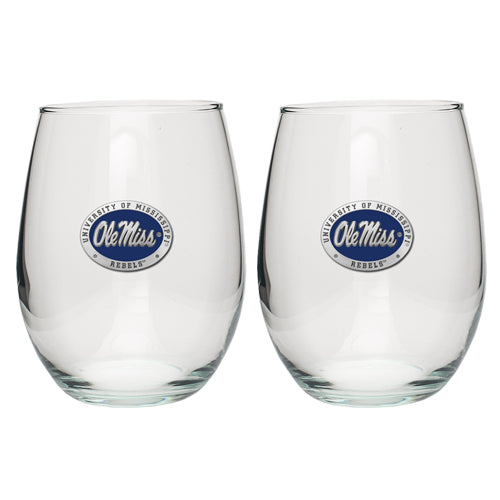 UNIVERSITY OF MISSISSIPPI STEMLESS GOBLETS (SET OF 2)