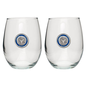 NAVY STEMLESS GOBLET (SET OF 2)