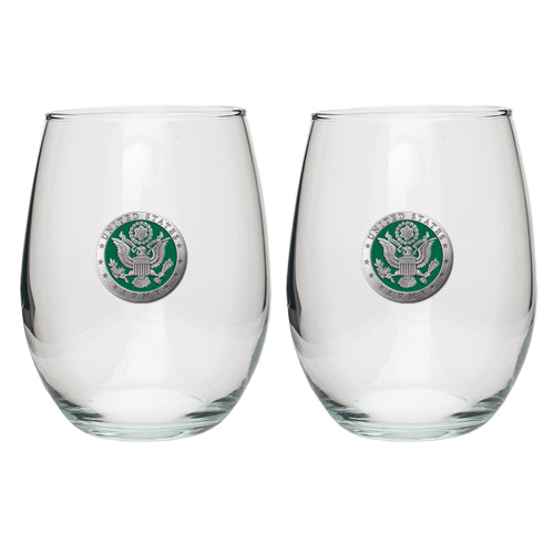 ARMY STEMLESS GOBLET (SET OF 2)