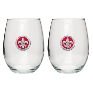 LOUISIANA AT LAFAYETTE STEMLESS GOBLET (SET OF 2)