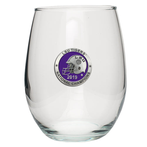 LSU NATIONAL CHAMPIONS 2019 STEMLESS GOBLET