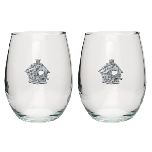 BIRDHOUSE STEMLESS GOBLET (SET OF 2)