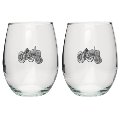 TRACTOR STEMLESS GOBLET (SET OF 2)