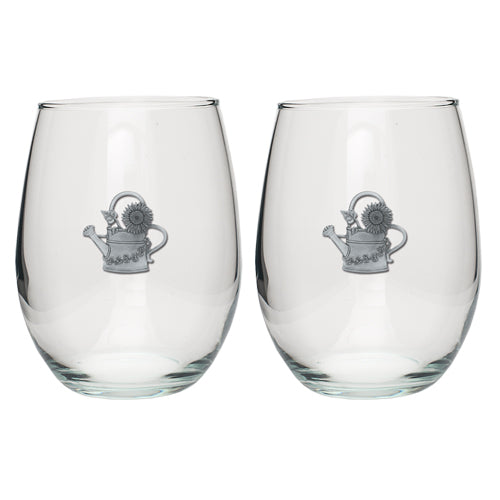 WATER CONE STEMLESS GOBLETS (SET OF 2)