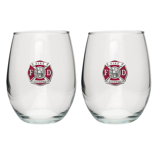 FIRE FIGHTER STEMLESS GOBLET (SET OF 2)