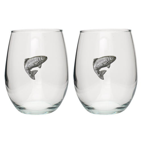 TROUT STEMLESS GOBLET (SET OF 2)