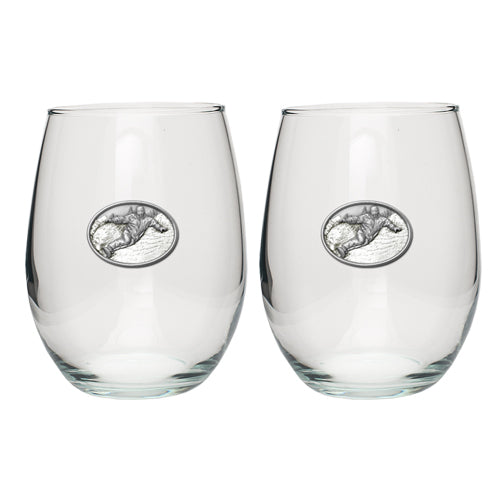 SNOWBOARDER STEMLESS GOBLET (SET OF 2)