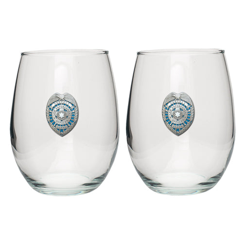 LAW ENFORCEMENT STEMLESS GOBLET (SET OF 2)