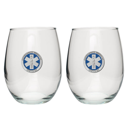 EMERGENCY MEDICAL STEMLESS GOBLET (SET OF 2)