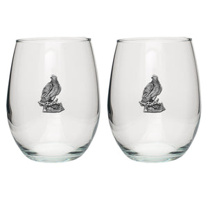 EAGLES STEMLESS GOBLETS (SET OF 2)