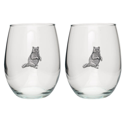 RACCOON STEMLESS GOBLET (SET OF 2)