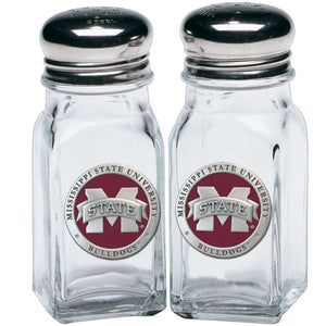 "MISSISSIPPI STATE UNIVERSITY ""M"" LOGO SALT & PEPPER SHAKERS"