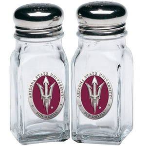 ARIZONA STATE UNIVERSITY PITCH FORK LOGO SALT & PEPPER SHAKERS