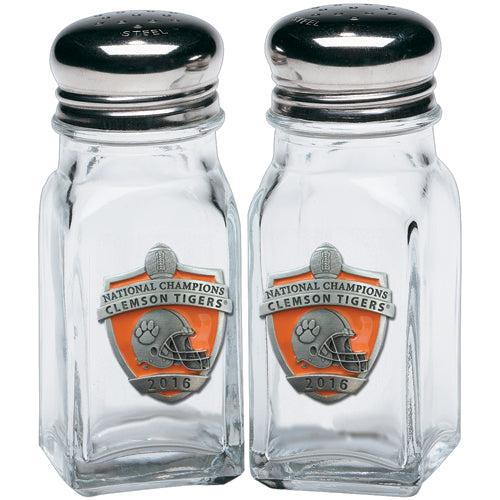 CLEMSON UNIVERSITY NATIONAL CHAMPIONS 2016 SALT & PEPPER SHAKERS