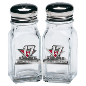 UNIVERSITY OF ALABAMA NATIONAL CHAMPIONS 2017 SALT & PEPPER SHAKERS