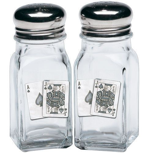 BLACK JACK SALT & PEPPER SHAKERS