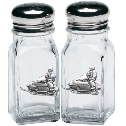 SNOWMOBILE SALT & PEPPER SHAKERS