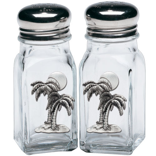 PALM TREE SALT & PEPPER SHAKERS