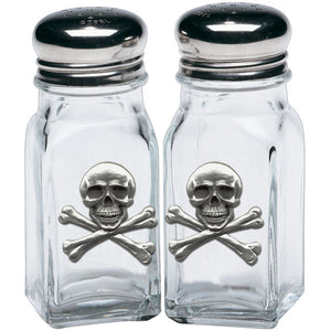 SKULL AND BONES SALT & PEPPER SHAKERS