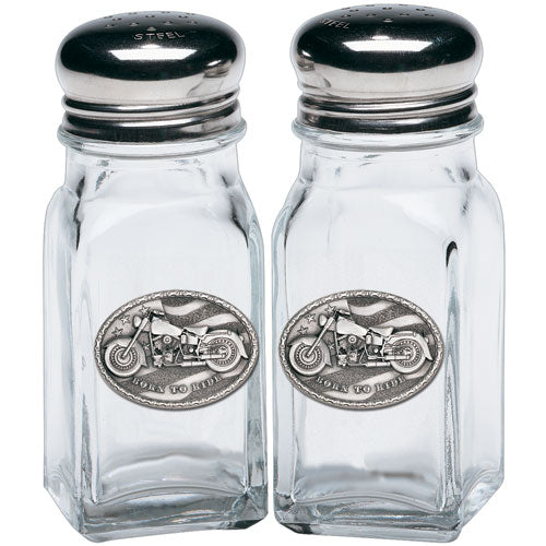 MOTORCYCLE SALT & PEPPER SHAKERS