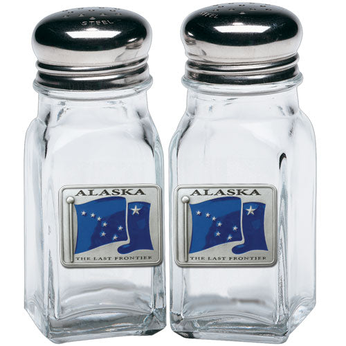 ALASKA FLAG SALT & PEPPER SHAKERS