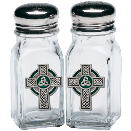 CELTIC CROSS SALT & PEPPER SHAKERS