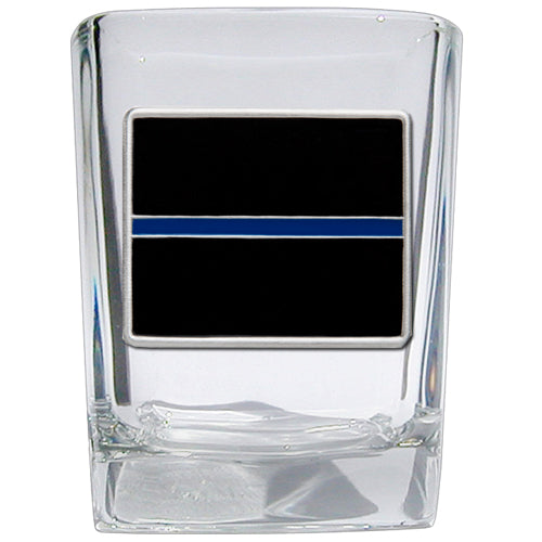 THIN BLUE LINE SQUARE SHOT