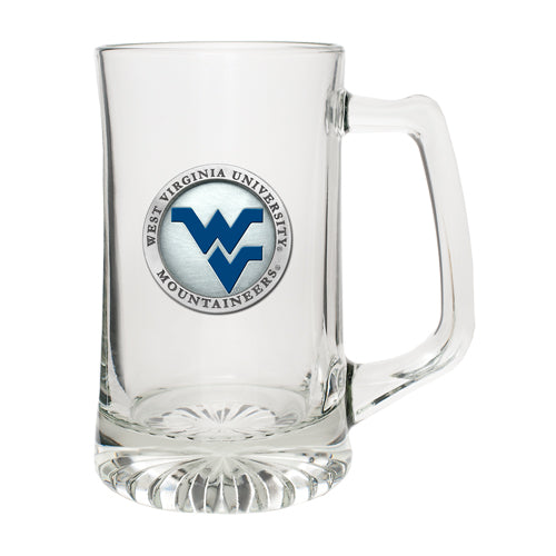 WEST VIRGINIA UNIVERSITY WV LOGO SUPER STEIN