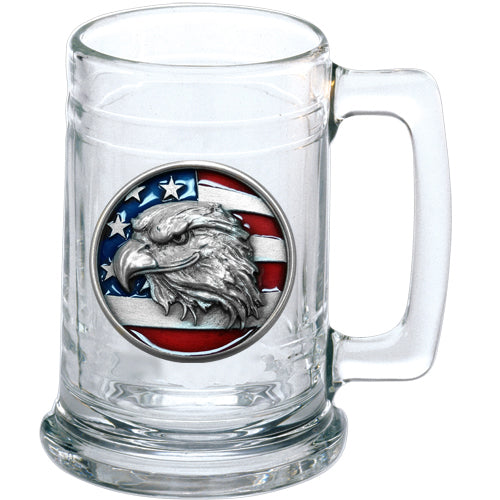 EAGLE HEAD W/ FLAG STEIN