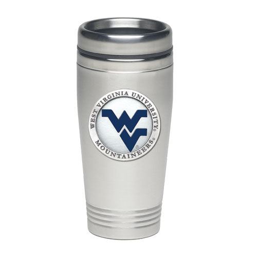 WEST VIRGINIA UNIVERSITY WV LOGO THERMAL DRINK