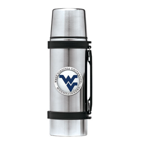 WEST VIRGINIA UNIVERSITY WV LOGO THERMOS