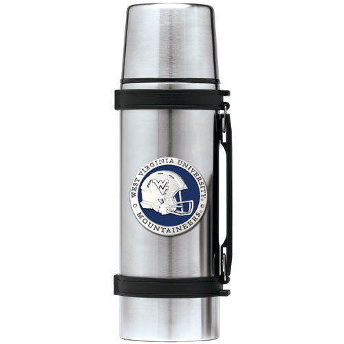 WEST VIRGINIA UNIVERSITY HELMET THERMOS