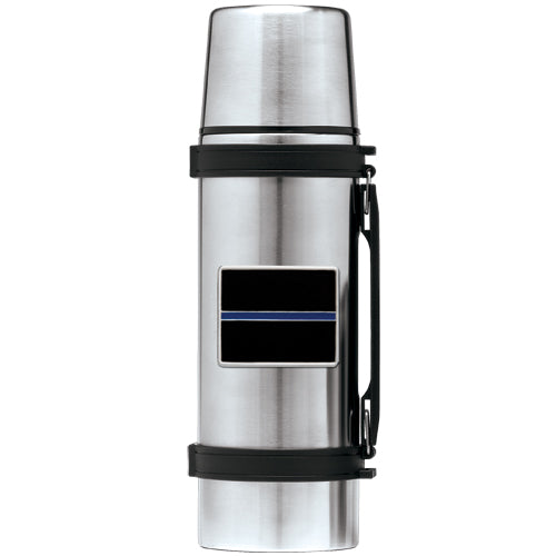 THIN BLUE LINE THERMOS