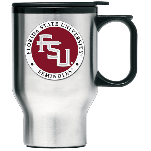 FLORIDA STATE UNIVERSITY FSU LOGO TRAVEL MUG
